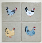 4 Ceramic Coasters in Sophie Allport Lay a Little Egg